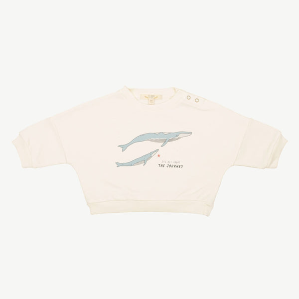 Red Caribou Sweatshirt The Journey Baby Sweatshirt - Ivory