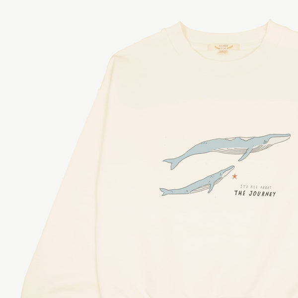 Red Caribou Sweatshirt The Journey Sweatshirt - Ivory