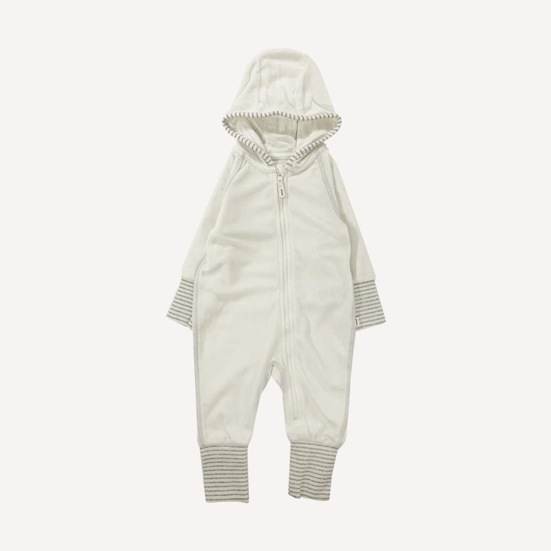 Reima Romper 3-6m / Like New Re-Cycle Solid White Hooded Romper