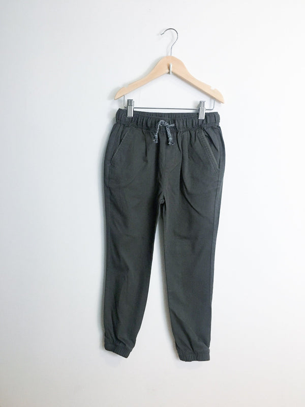 Rylee + Cru Bottoms 8-9y / New with Tag Re-Cycle Grey Drawstring Pant