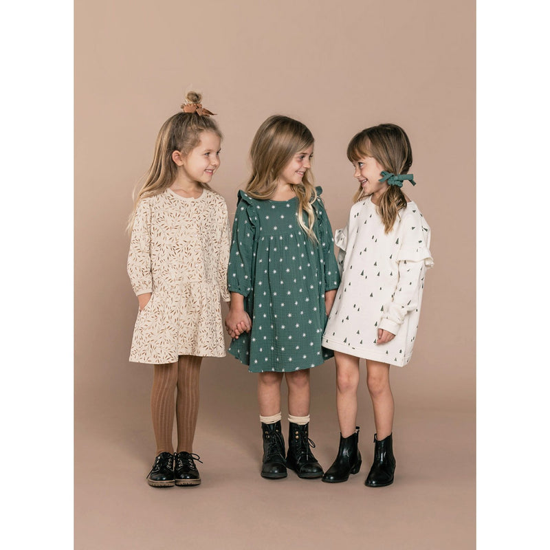 Rylee + Cru Dress 6-7y Northern Star Piper Dress Spruce (Rescues)