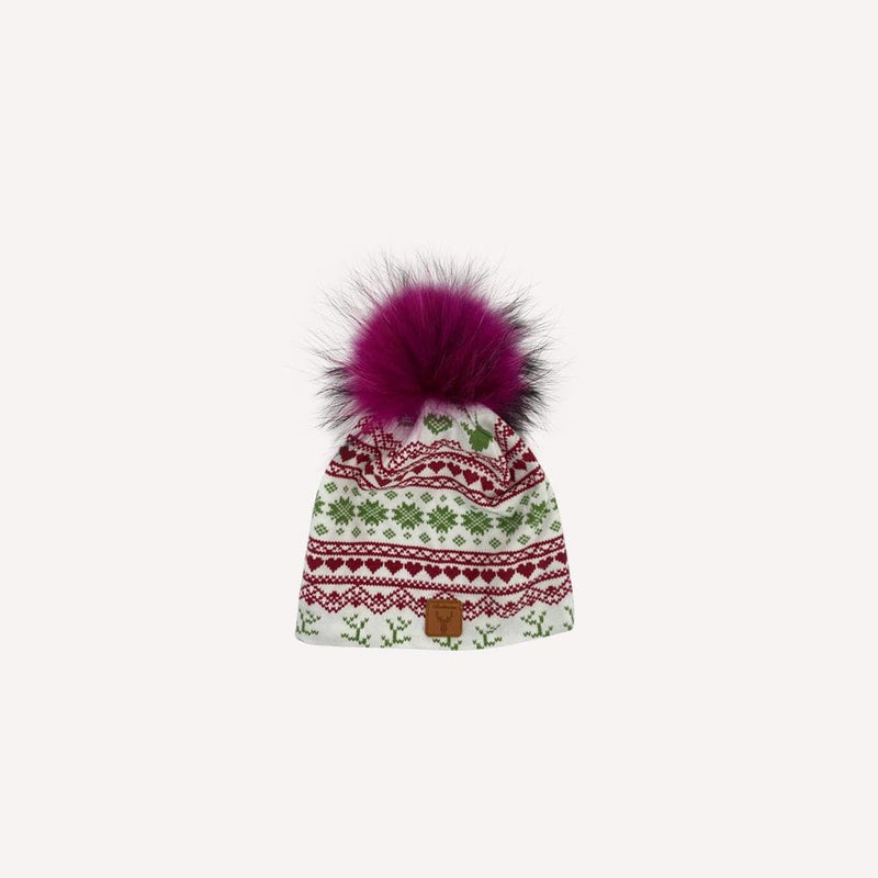 Sarahfourrure Beanie 2-3T / Like New Re-Cycle Patterned Pink Beanie