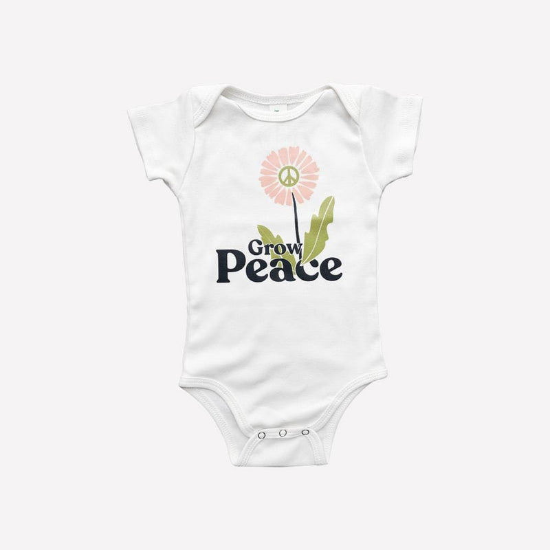 Savage Seeds Bodysuit Grow Peace Bodysuit - Natural White