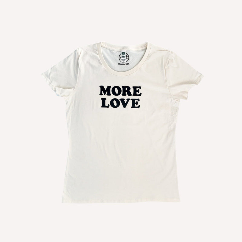 Savage Seeds T-Shirt More Love Tee - Natural White