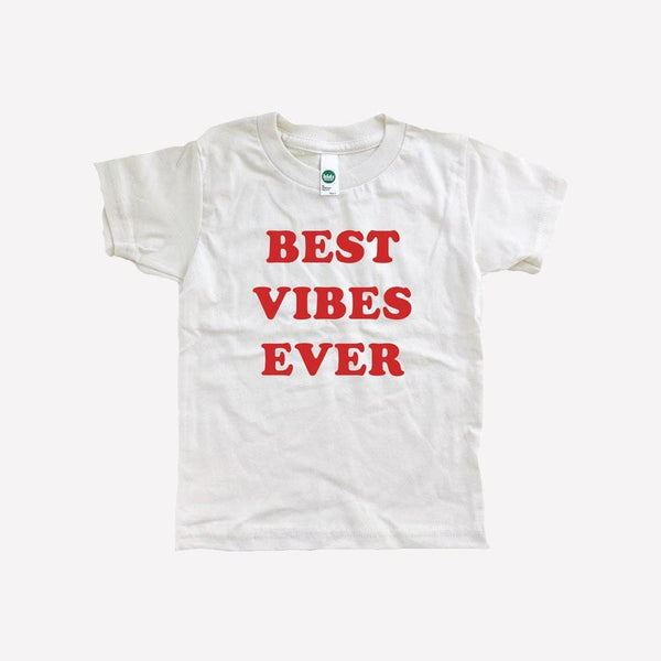 Savage Seeds T-Shirt Women's Best Vibes Ever Tee - Natural White