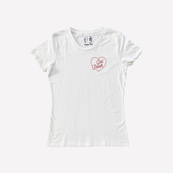 Savage Seeds T-Shirt Women's Girl Power Pocket Design Tee - Natural White