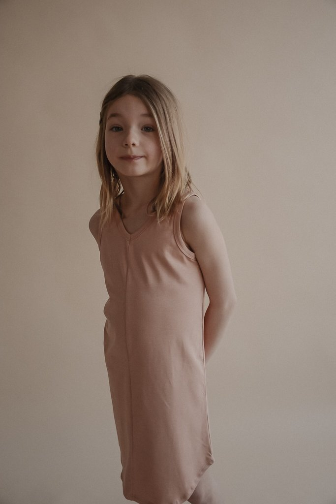 Sem Label Dresses + Skirts 2y V-neck Dress - Pale Peach