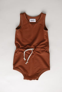 Sem Label Rompers + Overalls 6-12m Shorts Romper - Red Sand