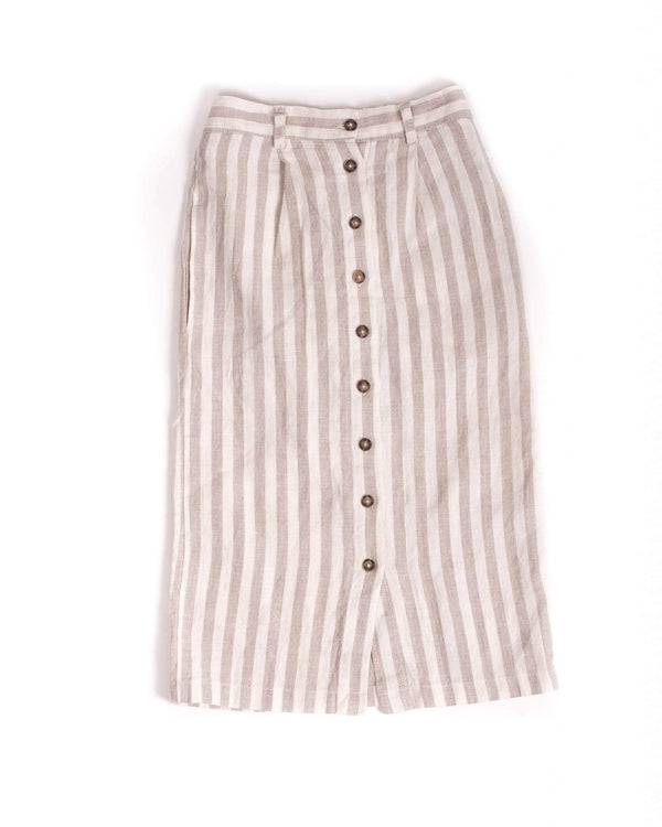 Sem Label Skirt 4y Striped Linen Midi Skirt (Rescues)