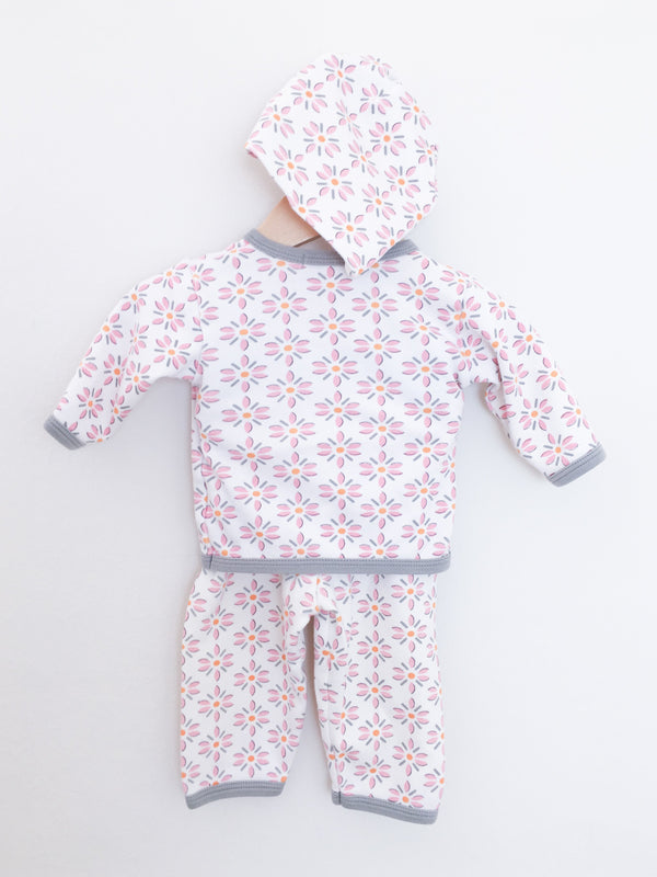 Sippy's Babes Sets 3m / Gently Used Re-Cycle Baby Pyjama Set -Take Me Home Flowers