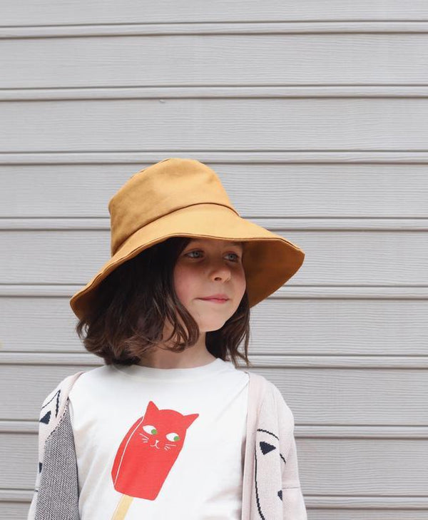 Small Lot Sun Hat Canvas Bucket Hat - Ginger