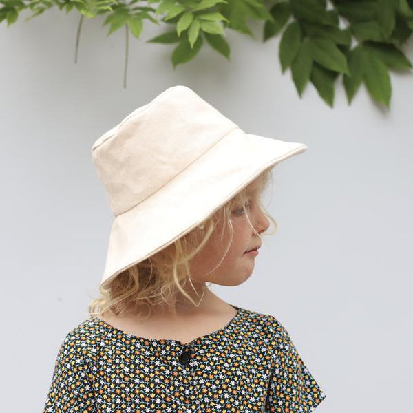 Small Lot Sun Hat Canvas Bucket Hat - Natural