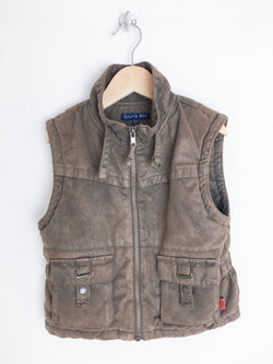 Souris Mini Outerwear 3-4y / Gently Used Re-Cycle Brown Vest
