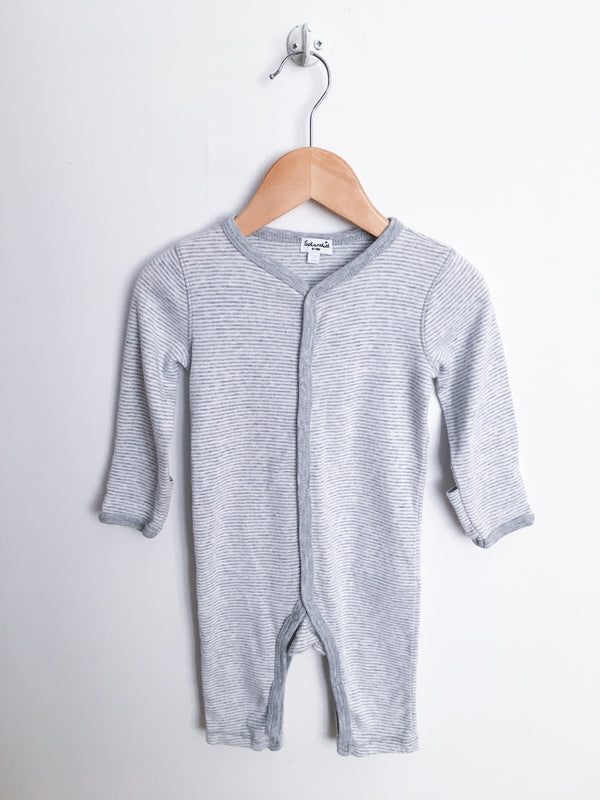 Splendid Pyjamas 6-9m / Gently Used Re-Cycle Grey and White Footless Jumpsuit