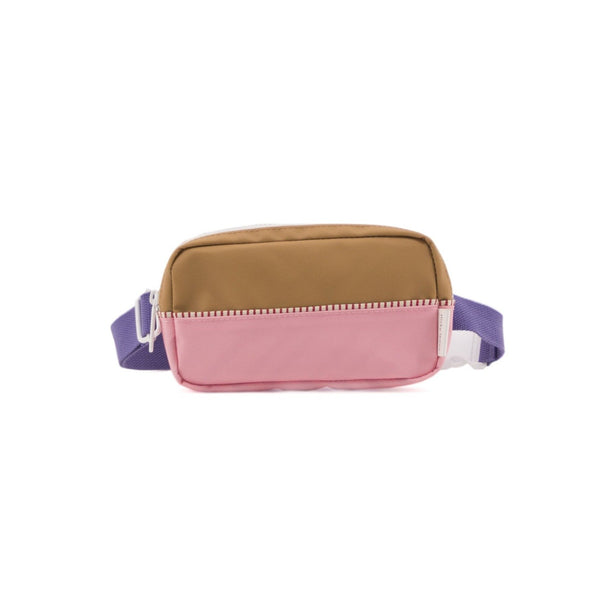 Sticky Lemon Accessories Fanny Pack Colour Blocking - Panache Gold + Puff Pink