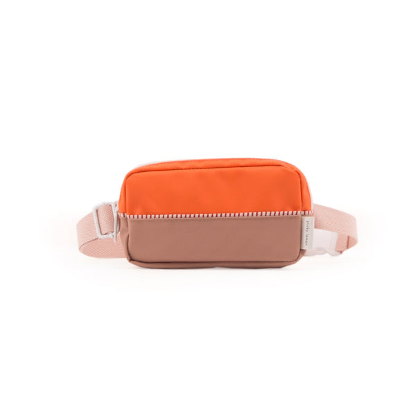 Sticky Lemon Accessories Fanny Pack Colour Blocking - Royal Orange + Chocolat au Lait