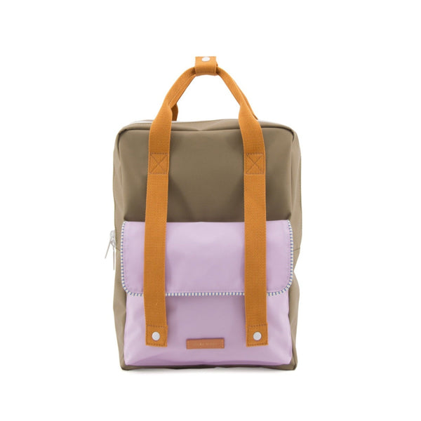 Large Backpack Deluxe - Madame Olive + Gustave Lilac + Concierge Orange