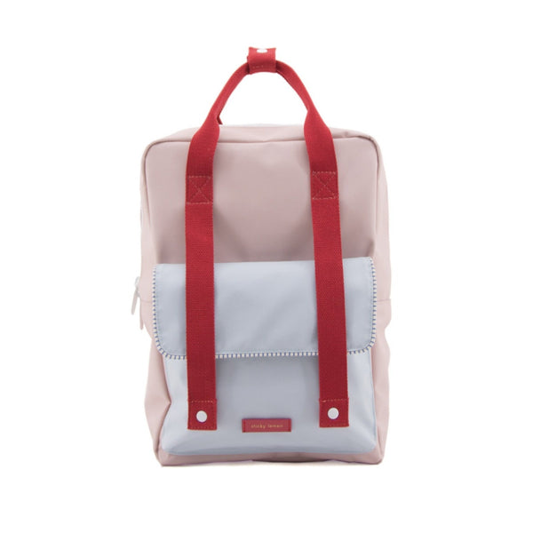 Large Backpack Deluxe - Mendl's Pink + Agatha Blue + Elevator Red