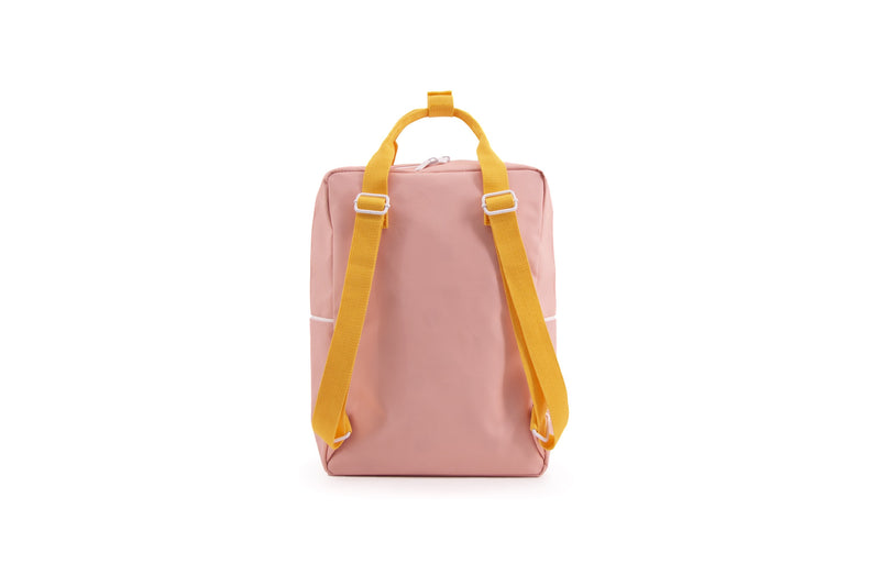 Sticky Lemon Backpack Large Backpack Wanderer - Candy pink + Sunny Yellow + Carrot Orange