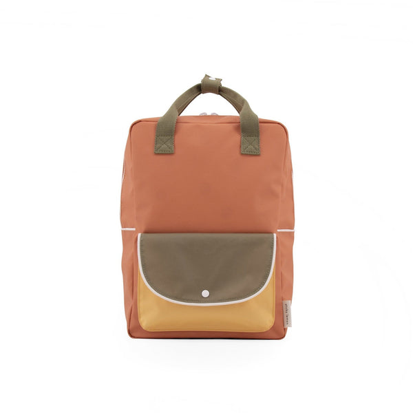 Sticky Lemon Backpack Large Backpack Wanderer - Faded Orange + Seventies Green + Retro Yellow