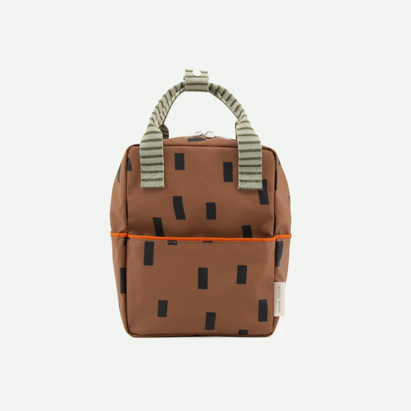 Small Backpack Sprinkles - Special Edition - Cinnamon Brown + Sage Green