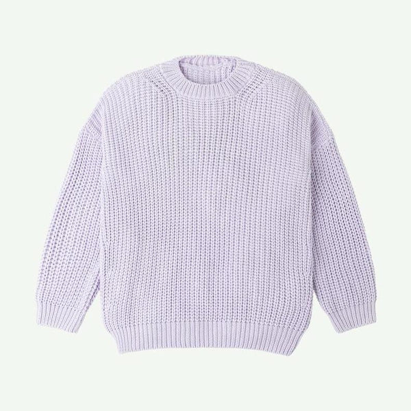 Summer and Storm Sweater Chunky Pullover - Lavender