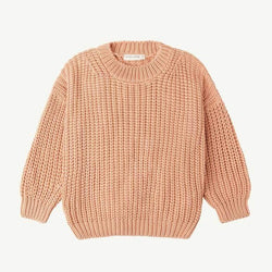 Chunky Pullover - Coral