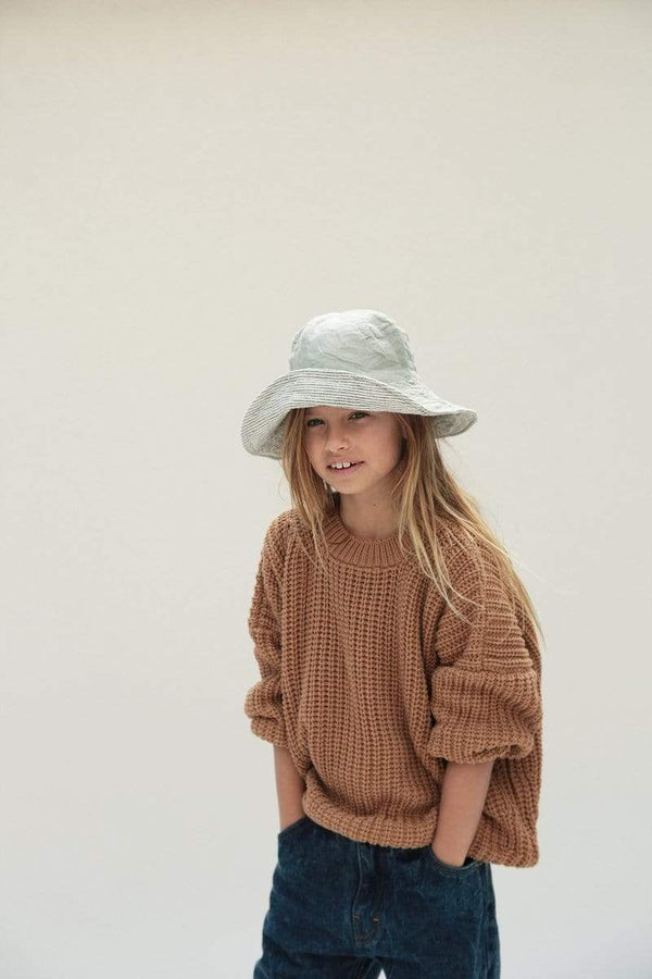 Summer & Storm Sweater Chunky Pullover - Tan