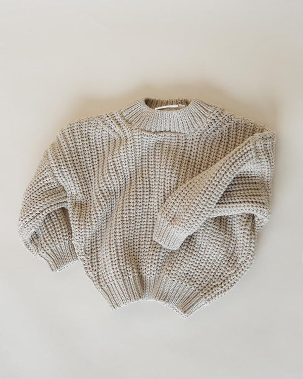 Summer & Storm Sweaters Chunky Cotton Knit Pullover - Ivory