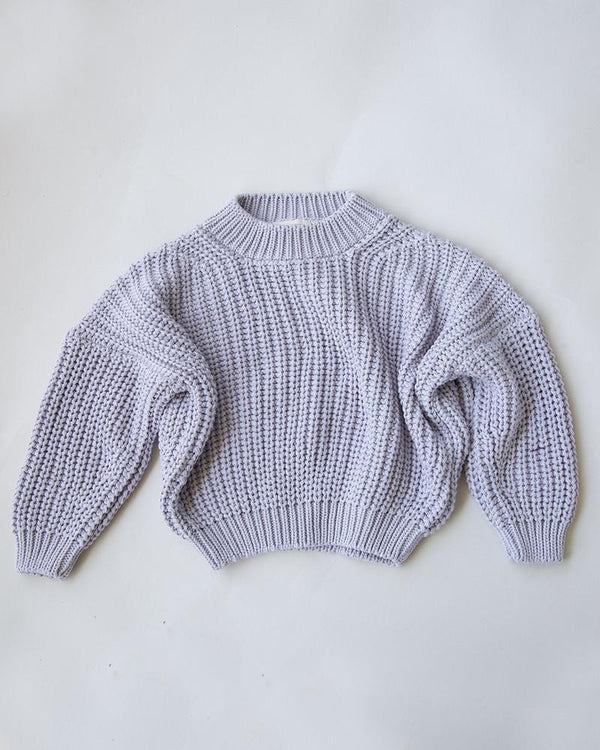 Summer & Storm Sweaters Chunky Cotton Knit Pullover - Lilac