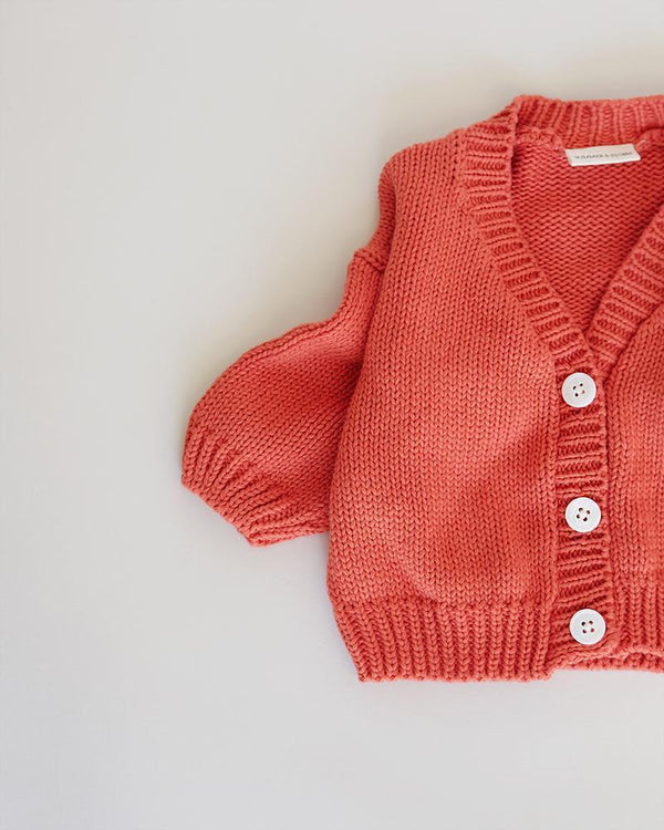 Summer & Storm Sweaters Classic Cardigan - Burnt Orange