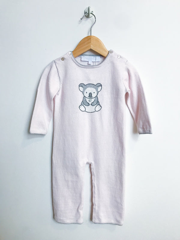 Tartine et Chocolat Rompers + Overalls 12m / Gently Used Re-Cycle Pale Pink Koala Footless Romper