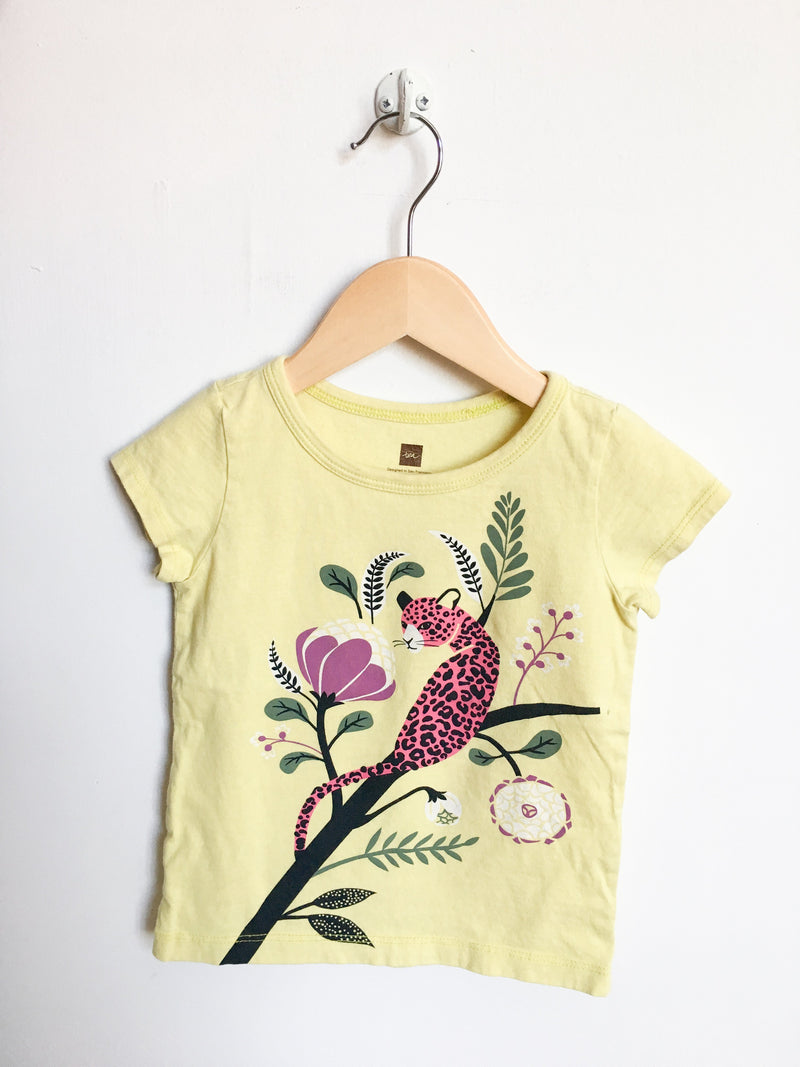 Tea Tops + Bodysuits 2T / Gently Used Re-Cycle Graphic Cheetah T-Shirt