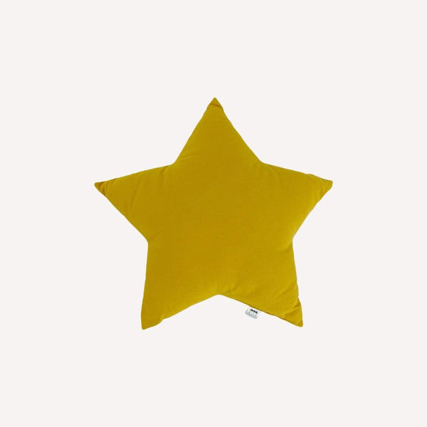 The Butter Flying Decoration OS / Preloved Re-Cycle Solid Yellow Star Pillow