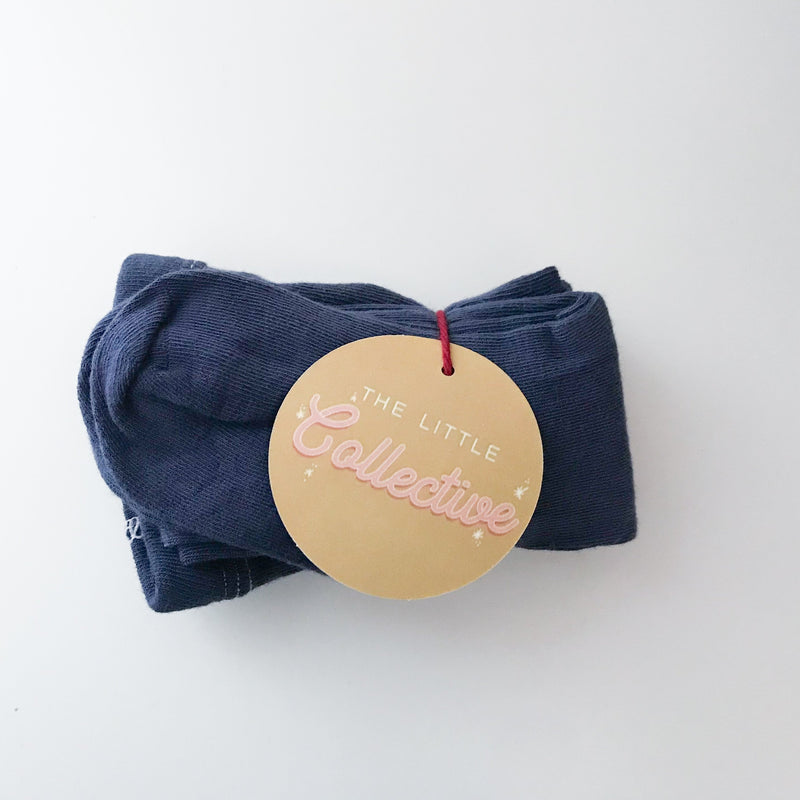 The Little Collective Accessories 6-18m / Navy Organic Tights