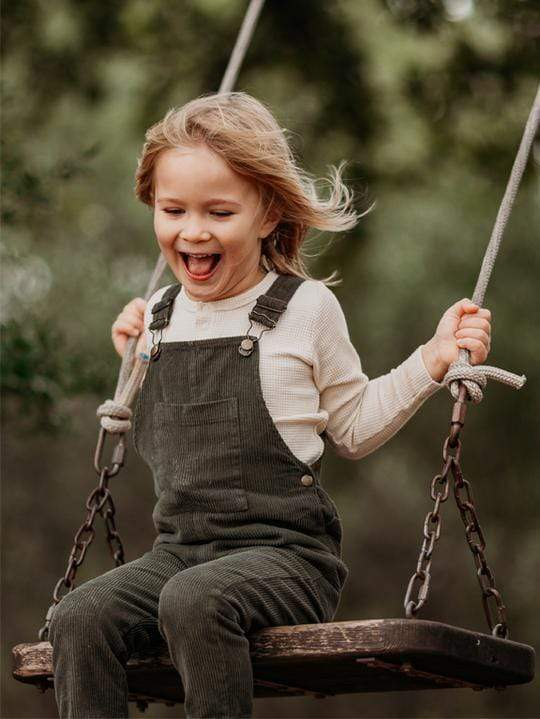 The Simple Folk Overalls The Wild and Free Dungaree - Olive