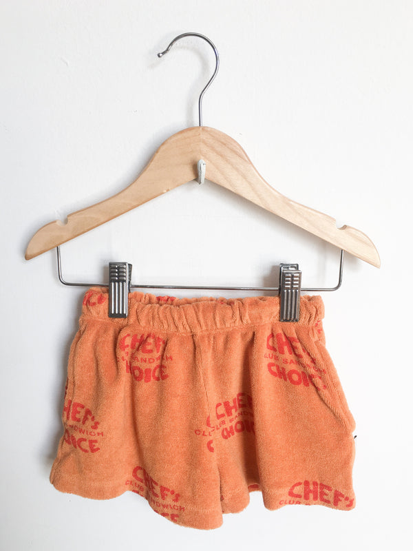 Tinycottons Bottoms 2y / Gently Used Re-Cycle Orange Terry Shorts