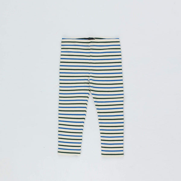 "Tinycottons Pants Baby ""Stripes"" Pant - Cream/Blue/Dark Green"