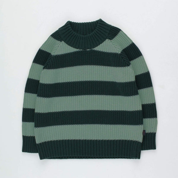 "Kids ""Stripes"" Sweater - Dark Green/Dark Pistachio"