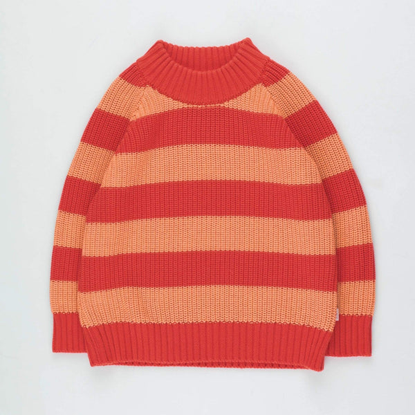 "Kids ""Stripes"" Sweater - Red/Peachy Red"