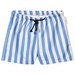 Tinycottons Swimwear 6y Cerulean Blue Striped Swim Trunks