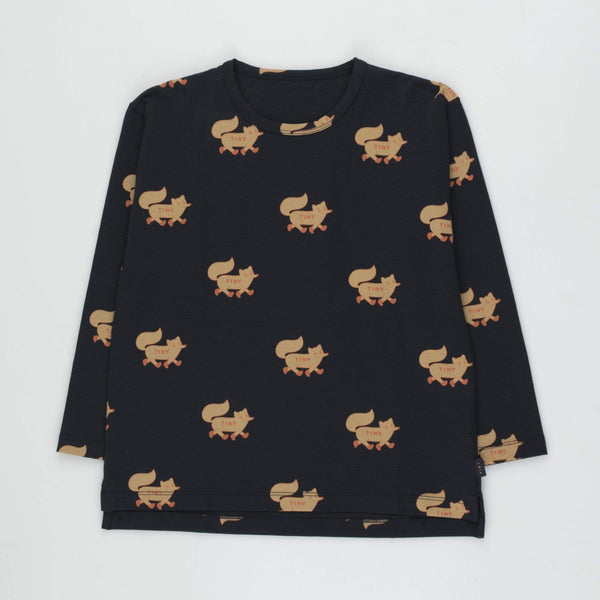 "Kids ""Foxes"" Tee - Navy/Camel"