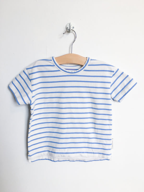 Tinycottons Tops + Bodysuits 2T / Gently Used Re-Cycle Blue and White Striped Tee