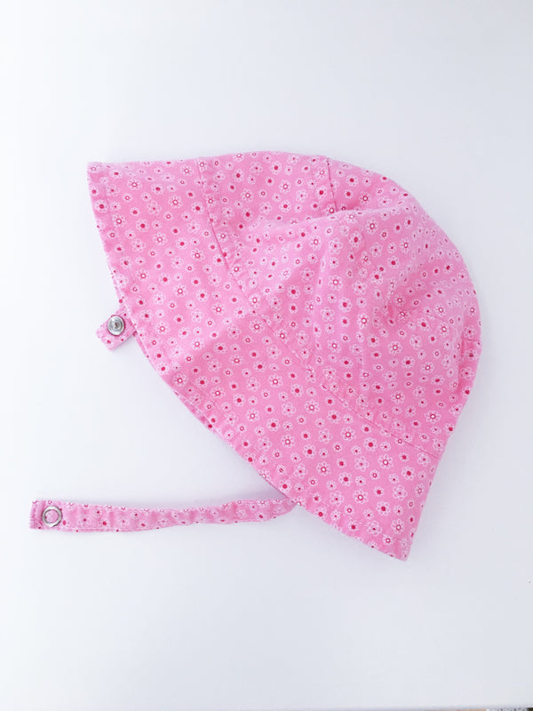 Tirigolo Hat 0-3m / Gently Used Re-Cycle Pink Floral Baby Sun Hat