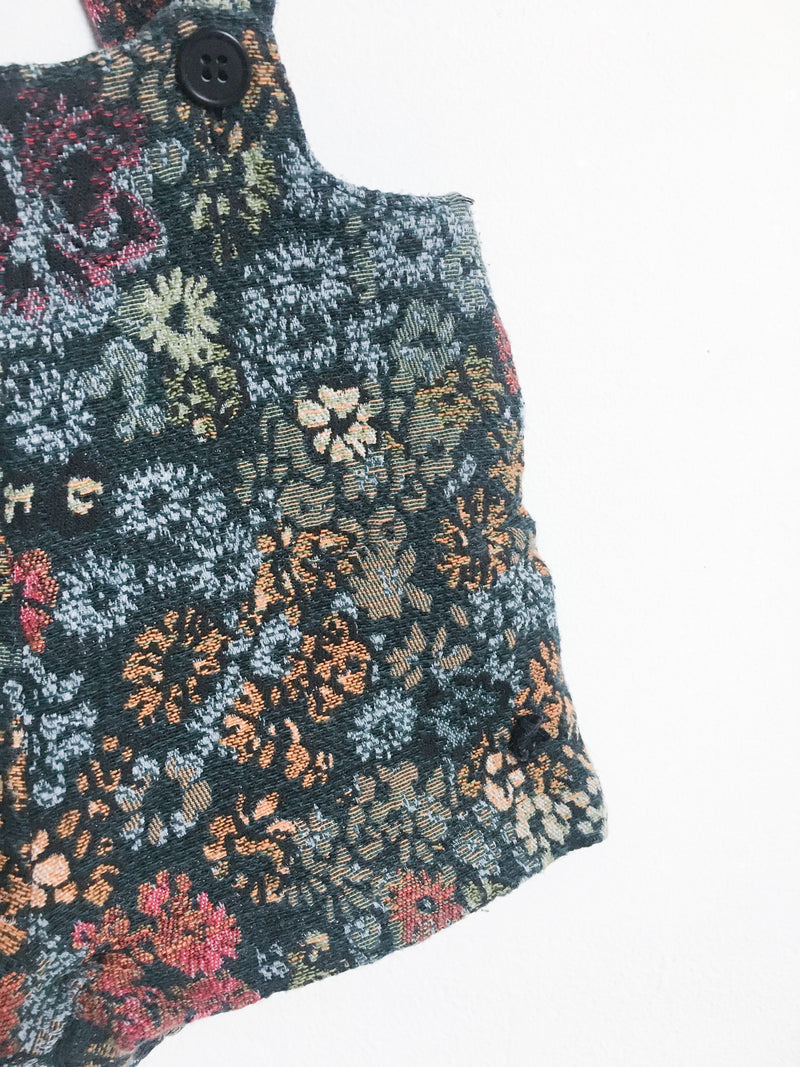 Tocoto Rompers + Overalls 18m / Gently Used Re-Cycle Jacquard Overall Shorts