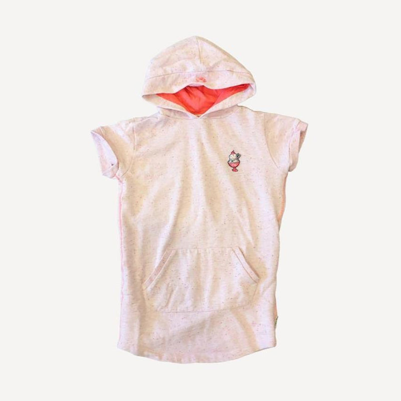 Tumble 'N Dry Hoodie 5-6y / Preloved Re-Cycle Solid Pink Hooded Tunic