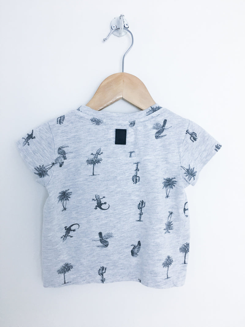 Tumble n' dry T-Shirt 9m / Gently Used Re-Cycle Grey Tropics Baby T-Shirt
