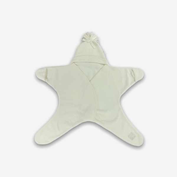 Tuppence and Crumble Sleepsack 4-10m / Like New Re-Cycle STARSNUG Fleece 'CLASSICS'  - Star baby wrap