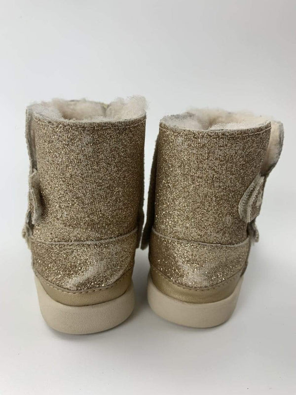 Ugg Boots US 8 / Preloved Re-Cycle KEELAN GLITTER Booties - Fur lined