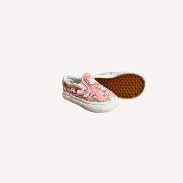 Vans Shoes US 4 / Preloved Re-Cycle Patterned Pink Slip-On Shoes - Toy Story